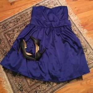 Torrid Royal Blue Strapless Dress